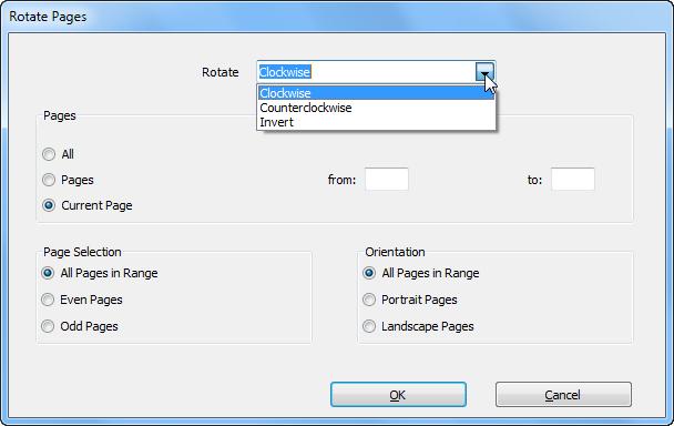 rotate pdf by a few degrees