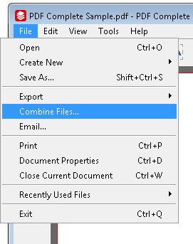 How to join two pdf files